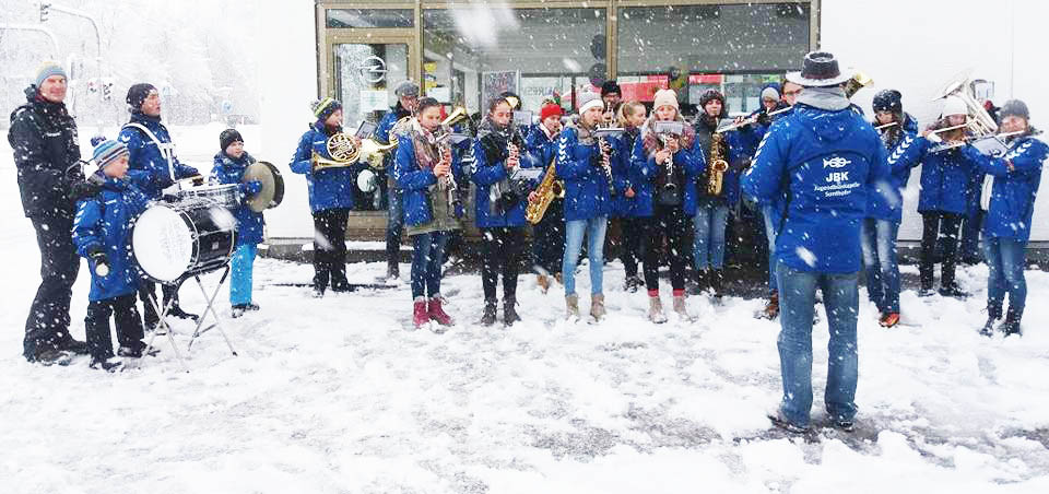 Silvesterblasen 2017 im Schnee