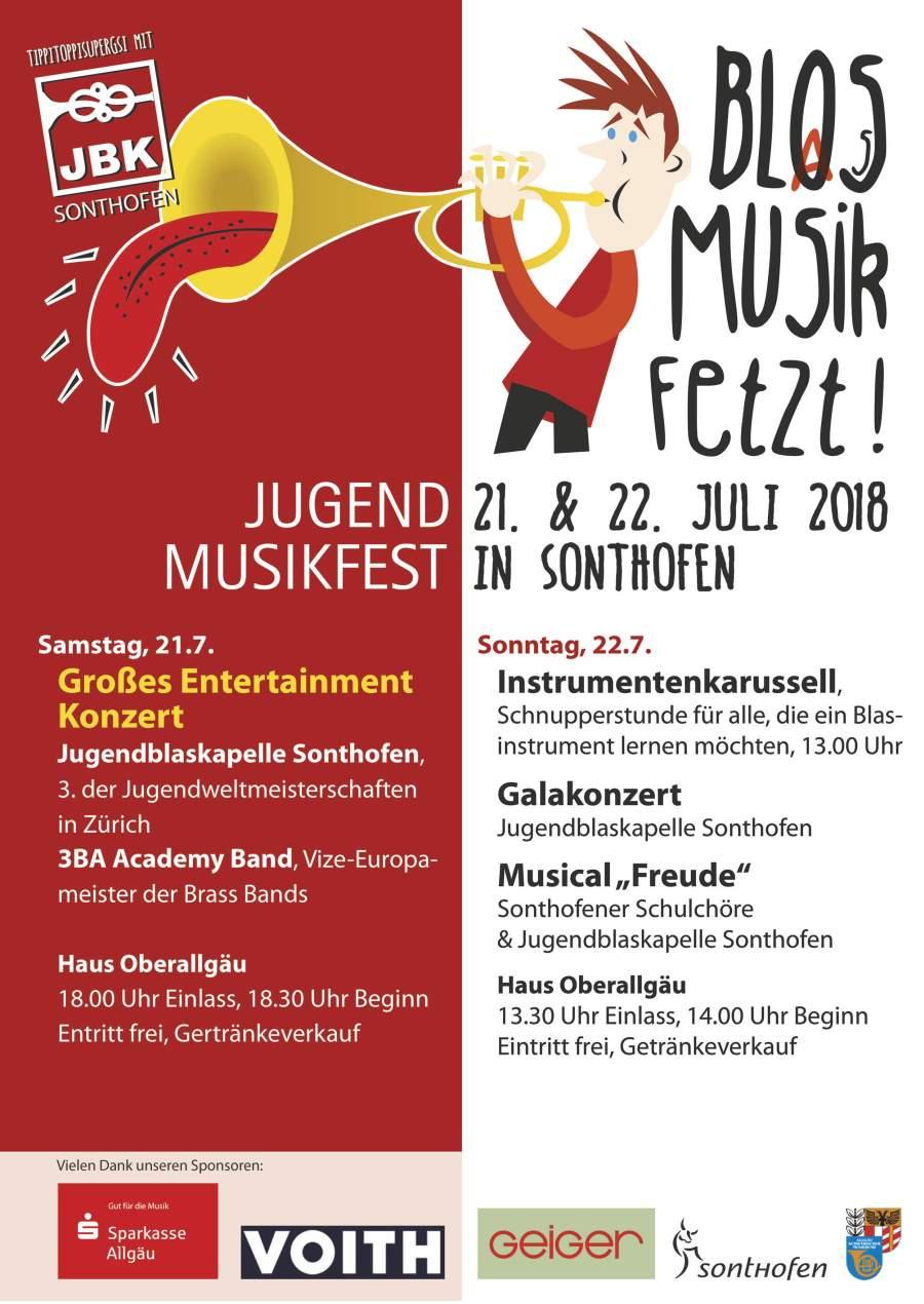 Jugendmusikfest Sonthofen Plakat