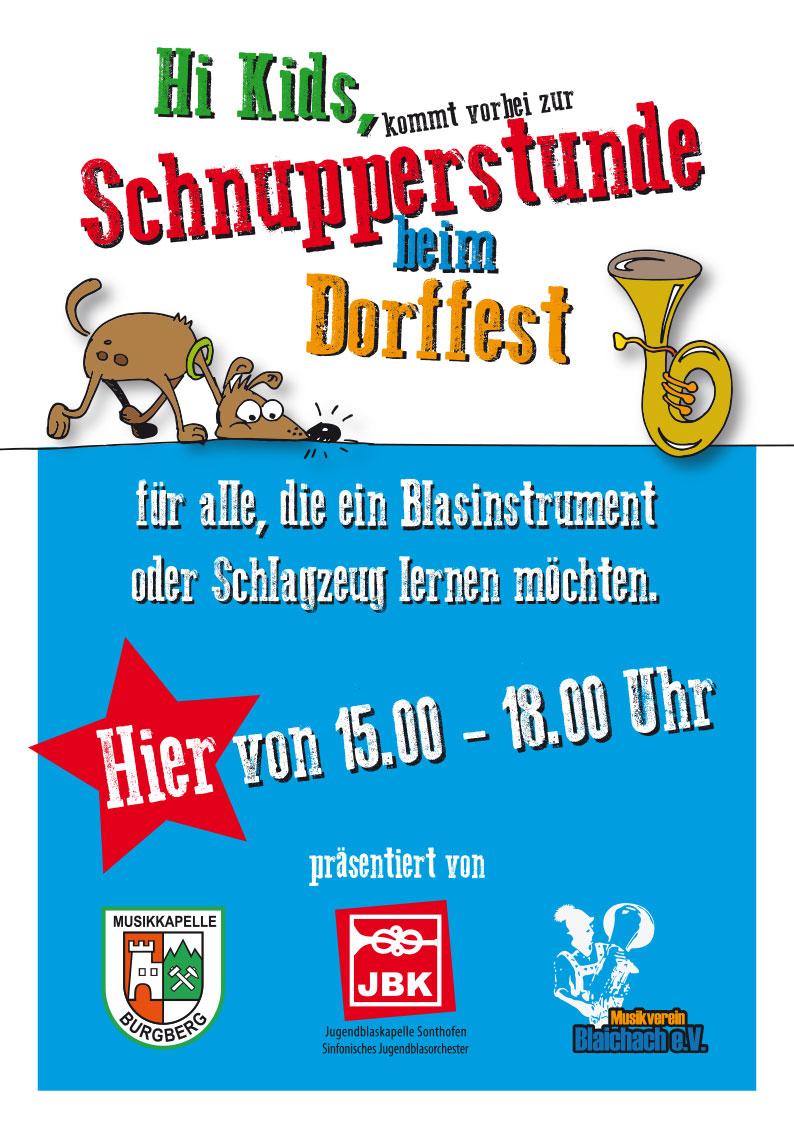 Schnupperstunde beim Dorffest in Burgberg